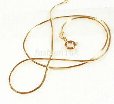 18K Yellow Gold Plated Snake Rope Cube Child Chain Necklace Length 35cm Short