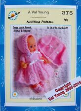 DOLLS KNITTING PATTERN BY Val YOUNG to fit a 10-11 INCH  *275*