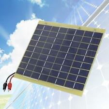 12V 5W Portable Solar Panel Power Trickle for Car Boat Camping Battery Charge KJ