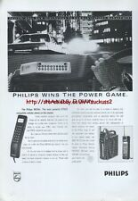 Philips MCR40 cellular Phone 1988 Magazine Advert #3924