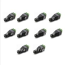 10PC 2.1 x 5.5mm Female DC Power Plug Jack Adapter Connector for CCTV Camera Led