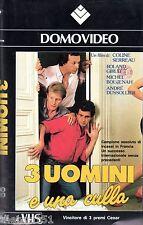 Tre uomini e una culla (1986) VHS 1a Ed. Domovideo - Colin Serrau Roland Girud