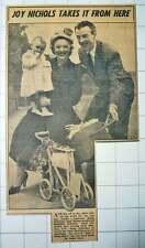 1953 Joy Nichols Wally Peterson Daughter Roberta Leave Hendon For Australia