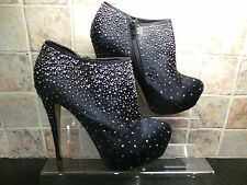 Ladies ALDO AYARZA Black Rhinestone Platform Shoe Boots UK 8 EURO 41 RRP £90 NEW