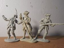 3  54MM BARZSO FRENCH INFANTRYMEN--FRENCH & INDIAN WARS --resin