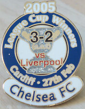 CHELSEA v LIVERPOOL 2005 Victory Pins LEAGUE CUP FINAL Badge Danbury Mint