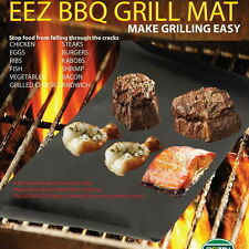 2pcs Reusable Non-stick Surface BBQ Grill Mat Baking Easy Clean Grilling FE