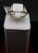 New 10K Yellow Gold,0.20 CT Diamond,Watch Band Design Men's Engagement Ring/Band