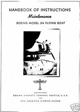Boeing 314 Clipper HISTORIC FLYING BOAT MAINTENANCE MANUAL RARE 1939 Pan Am