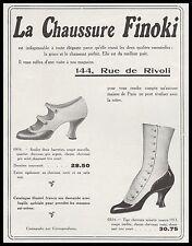 PUBLICITE CHAUSSURES  FINOKI  pour DAMES  MODE FASHION  SHOES  AD  1913 -1H