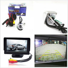 "170°Car License Plate Frame Screw Reverse CMOS Camera &  4.3"" LCD Monitor Screen"