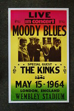 The Moody Blues Tour Poster 1964 Wembley Stadium London