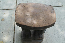 "Arts of Africa - Baule Stool - Male - Female - Cote d' IVoire - 24"" Ht x 15""L"