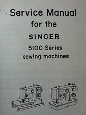 Singer Model 5100 5102 5123 5107 5127 Sewing Machine Service Repair Manual Parts