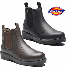 MENS DICKIES DEALER LIGHTWEIGHT CHELSEA STEEL TOE CAP SAFETY BOOTS WORK SHOES SZ