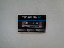 Vintage Audio Cassette MAXELL UD 90 * Rare From Japan 1982 *