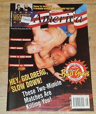 1995 Wrestle America Wrestling Magazine WWF WWE NWA Bad Guys WCW Goldberg