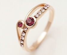 Chic 10K Yellow Gold Filled Amethyst Women's Jewelry Ring P127 SizeP