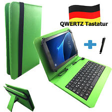 Deutsche Tastatur Hülle - Point of View Kids 7 zoll Tablet Tasche Qwertz Grün