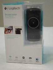 NEW * Logitech Broadcaster Wi-Fi Webcam for HD Video Streaming Calling Recording