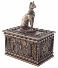 Bronze Egyptian Bastet Jewelry Trinket Box - Gift Boxed