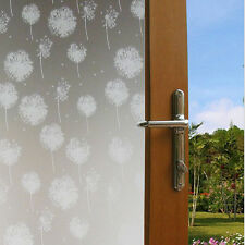 DIY Removable Frosted Dandelion Bathroom Window Glass Film Sticker Home Decor