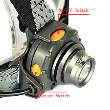 350LM XPE LED IR Sensor Mini Headlamp Headlight Torch Lamp 18650 Flashlight