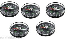 (5) Compass Camping Survival Hiking Boating Outdoor Fishing Magnetic Compass