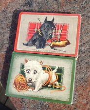 Vintage  Waddingtons Scottie Dog Twin Deck Tax Wrap Sealed Playing Cards Rare
