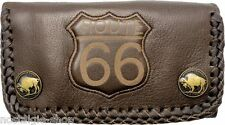 Route 66 Biker Wallet Chain monedero 3d cadena Naked Leather rockabilly cuero