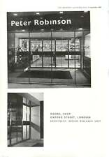 1956 New Doors For Peter Robinson Shop Oxford Street