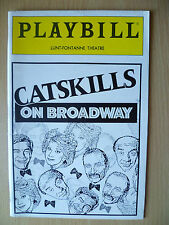 1992 PlayBill Lunt Fontanne Theatre- CATSKILLS ON BROADWAY by Larry Arrick