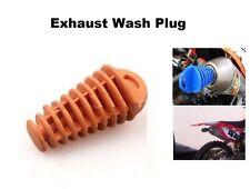 Muffler Exhaust Orange Wash Plug Car Wash Pipe-Plug Motorcycle Dual ATV Quad KTM