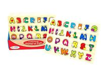 Childrens Kids Wooden Letters ABC Alphabet Puzzle Pre-School Learning Toy!