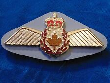 SCULLY RCAF Royal Canadian Air Force enameled metal Pilot wings pocket badge