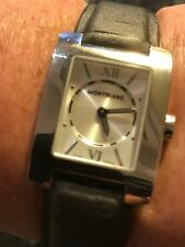 Ladies Montblanc Watch, Silver With Grey/taupe Strap RRP approx £650 AUTHENTIC