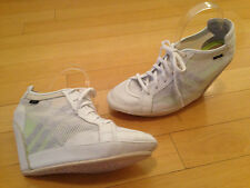ADIDAS SLVR CLIMACOOL WHITE NET WEDGE SHOES WOMENS SIZE 10.5 M