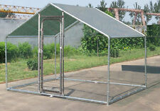 Large Metal Chicken Run 7x10 ft Walk in Coop Cat Rabbit Ducks Hens Dog House