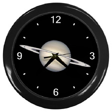 SATURN PLANET SOLAR SYSTEM SATURN RING ROUND WALL CLOCK **GREAT ITEM**