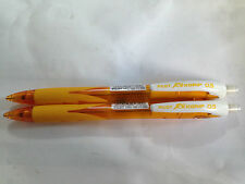 Pilot Rexgrip 0.5mm Mechanical pencil x2pcs -Yellow Barrel   Free Postage