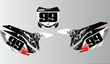 CRF/CR MOTOCROSS   NUMBER BOARD AIRBOX GRAPHICS SPLASH ALL YEARS AND CC