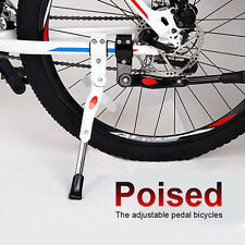 Alloy Aluminum Bike Kickstand Rear Adjustable Bicycle Side Stand Cycling Stand