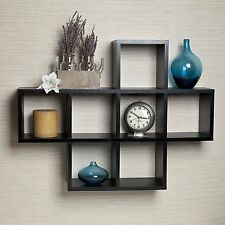 Danya B™ Cubby Laminated Black Veneer Shelving Unit