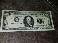 Retro 1985 Hundred $100 MAGNET bill money board fridge refrigerator souvenir j94