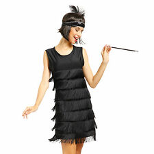 1920s 1930s Ladies Flapper Costume Flapper Dress Fancy Dress Outfit + Headpiece