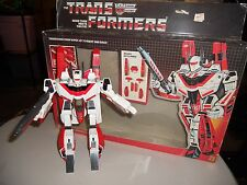 Hasbro Transformers G1 Jetfire, near complete w nice box, please read