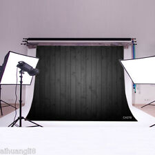 7x5FT Black Wooden Floor Vinyl Photography Backdrop Background Studio Prop CA378