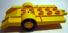 Lego Duplo YELLOW TRAILER Black Wheels Car/Truck Replacement Accessory Piece