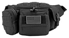Tactical Fanny Pack MOLLE Pouch EDC Urban Medic Survival Hiking Bag BLACK*