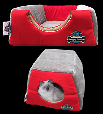 Cat Kitten Cave Nest, Puppy Dog, Pet Igloo, Cat Basket, Pet Mat, Hidey Hole, RED